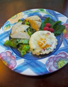 Breakfast Tart with Fresh Spring Salad and Chocolate Chunk Scones