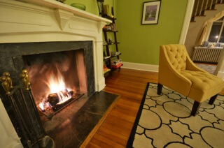 Front Parlor Fireplace, Waypoint House B+B