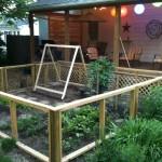 Vegetable Garden and Back Deck