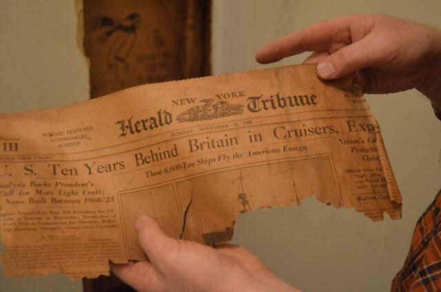 Old newspaper insulation - November 25, 1928