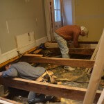 Leveling the floor and adding new joists