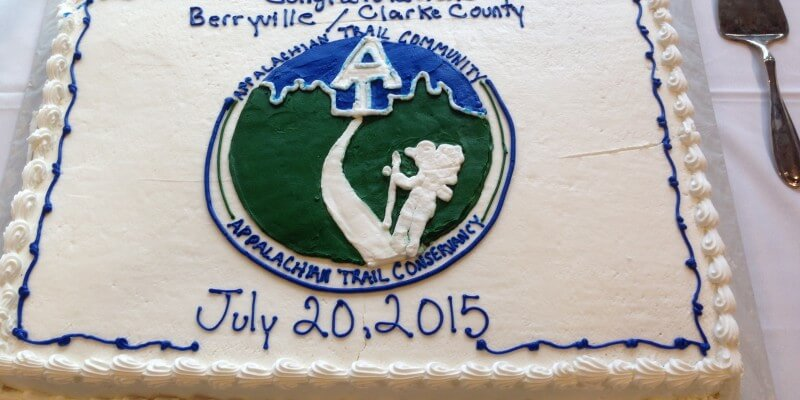 Cake to Celebrate the 39th Official Appalachian Trail Community!