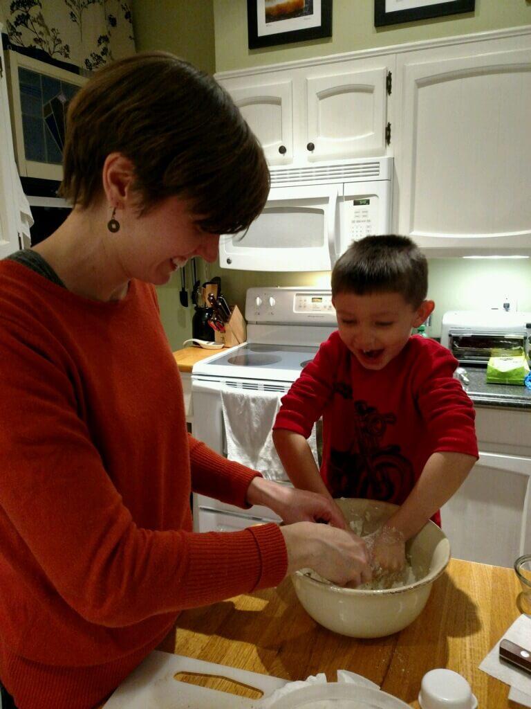 Pie making with my nephew!
