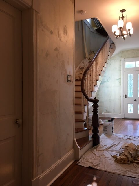 Wallpaper Removal at Waypoint House