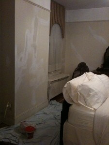 Plaster Repair, Traveler's Retreat Room