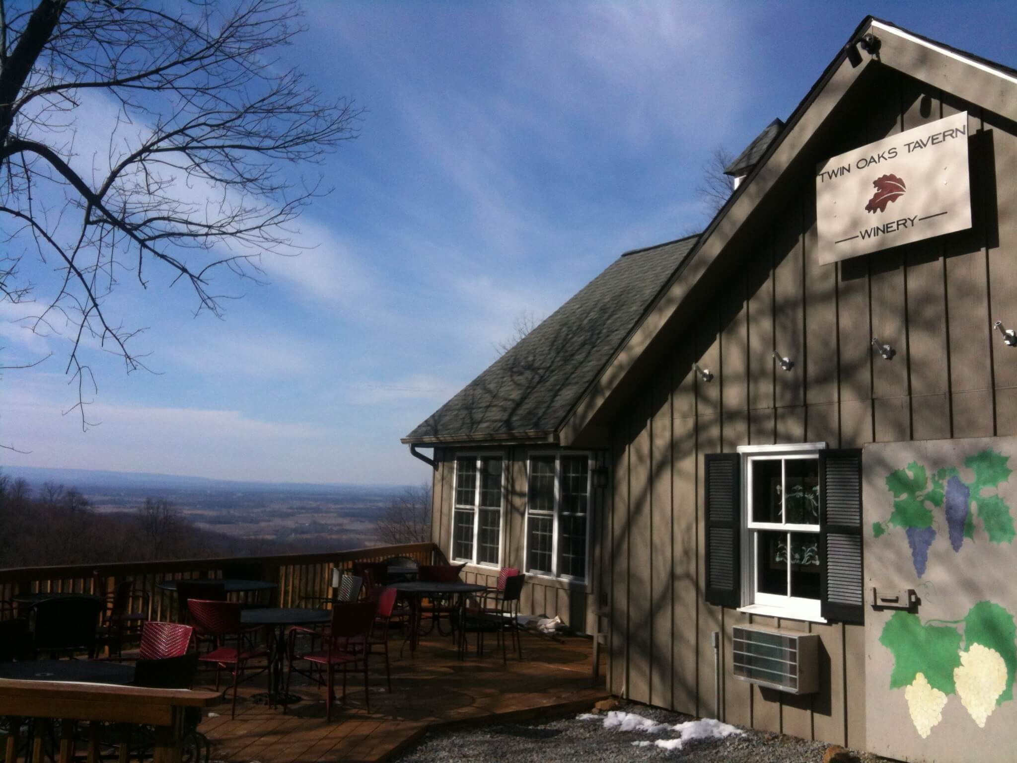 Twin Oaks Tavern Winery.