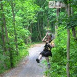 Zip line adventure at River Riders Adventure Park in Harpers Ferry.