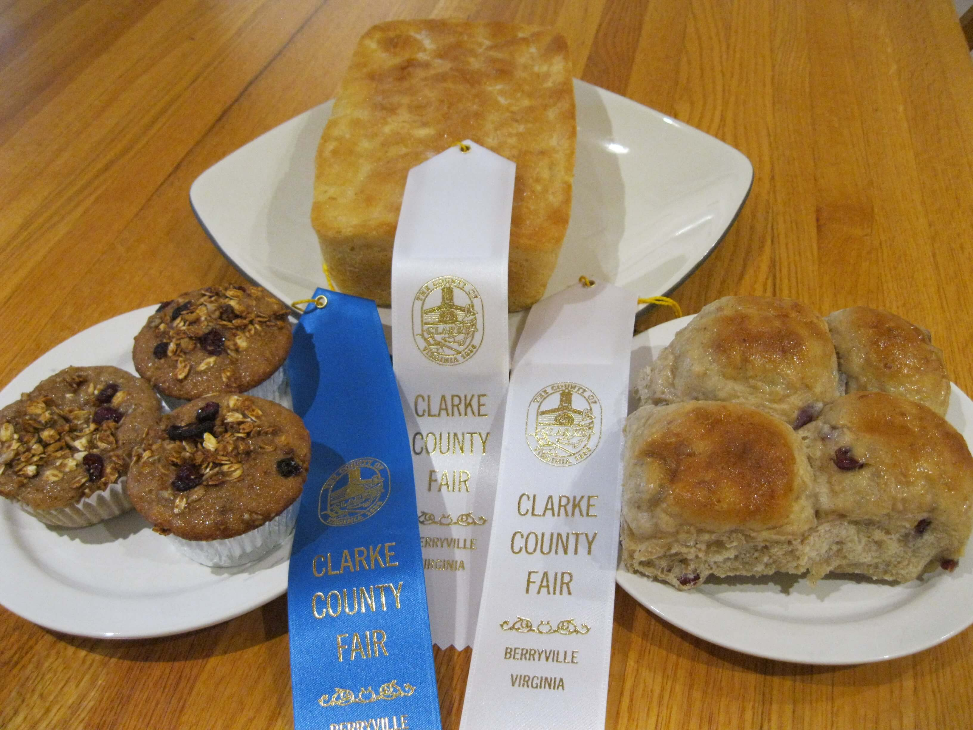Clarke County Fair Prize Winning Baked Goods - Granola Muffins, English Muffin Bread and Cranberry Cinnamon Rolls - Waypoint House B+B