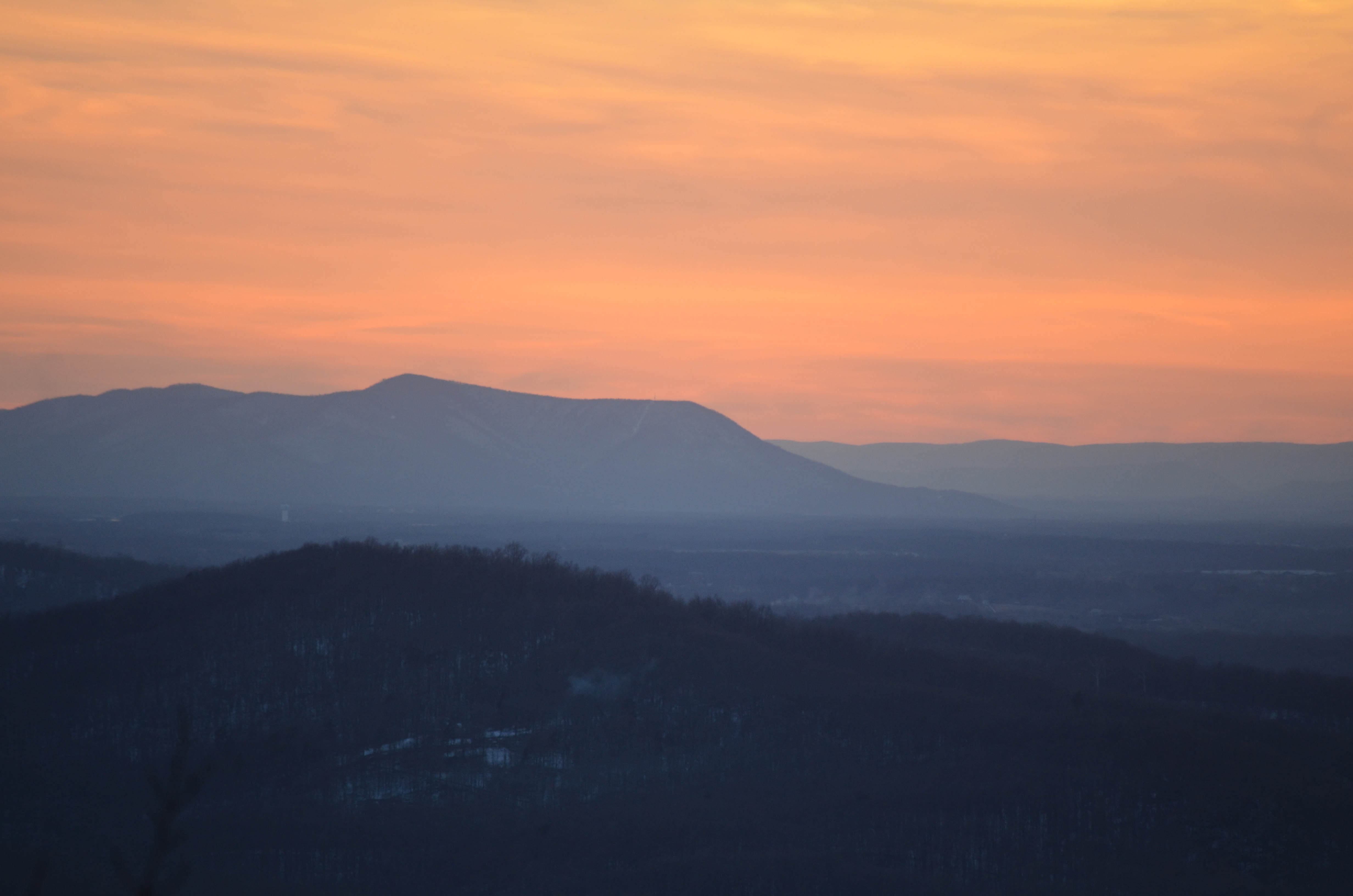 Bears Den Overlook, Sunset