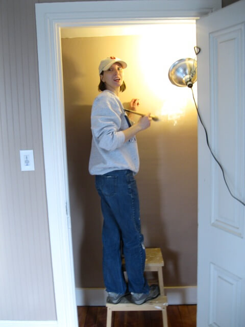 Painting the Shore Room Closet