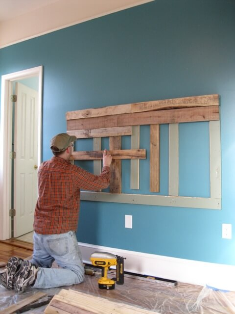 Constructing the headboard
