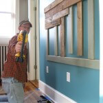 Jonathan installs the Shore Room Headboard