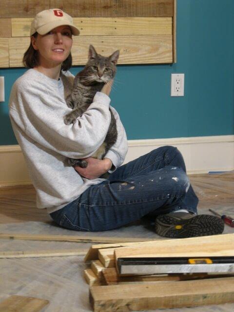 Marlowe Cat offers mommy a kitty break