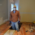 Beginning to remove the old entry floor