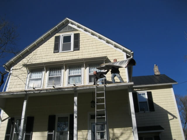 Goodbye, old porch roof!