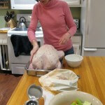 Preparing the Thanksgiving turkey!
