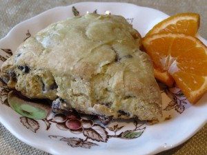 Waypoint House Cranberry Orange Scones with Orange Glaze