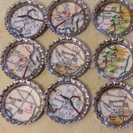 Map Magnets - arts and crafts