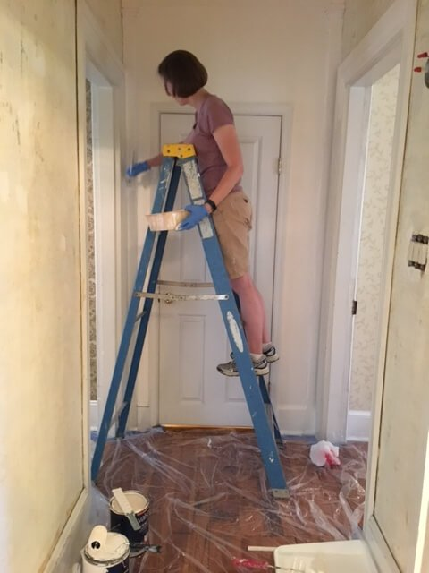 Re-Painting the Second Floor Trim
