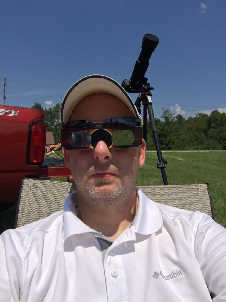 Preparing to watch the eclipse
